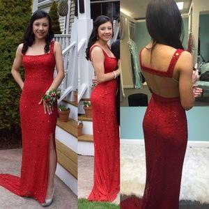 Red Scala Prom Dress #48408 Size 2